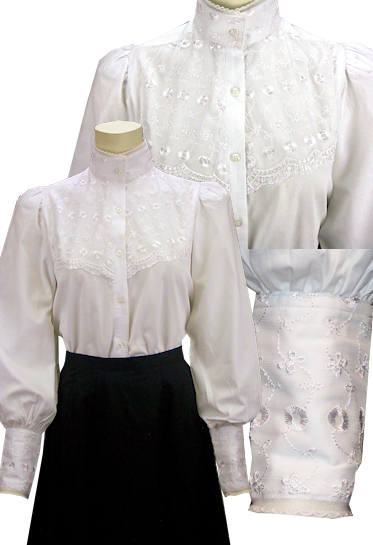 Frontier Classics Laura Blouse White Ladies Old West