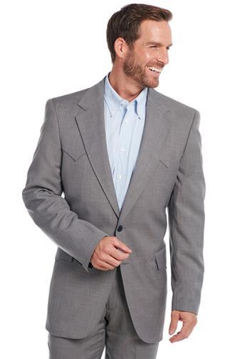 Circle S Lubbock Suit Coat - Steel Grey - Men's Western ...
