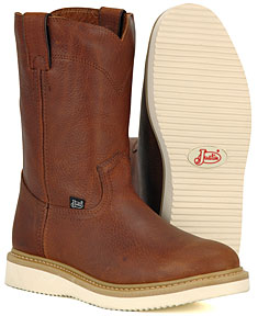 justin premium wedge pull on work boots s western