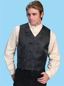 Scully Double Breasted Vest  - Black