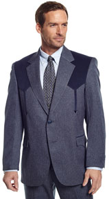 Circle S Boise Navy Heather Western Suit Coat
