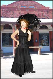 Scully Black Petticoats and Lace