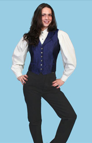 Scully Old West Black Duckins  Ladies Pants