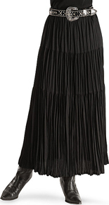 Cattlelac Broomstick Skirt -  Black