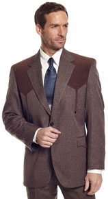 Circle S Boise Brown Heather Western Suit Coat