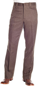 Circle S Boise Brown Heather Western Suit Pant