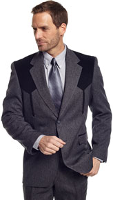 Circle S Boise Charcoal Heather Western Suit Coat