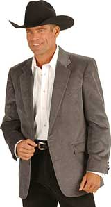 Circle S Corduroy Grey Western Sport Coat