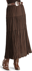 Cattlelac Broomstick Skirt -  Brown