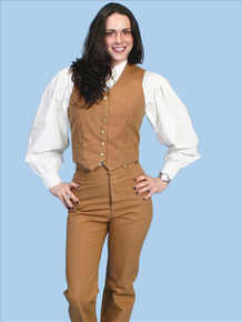 Scully Old West Tan Duckins  Ladies Pants