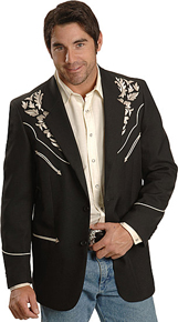 Scully Black Embroidered Sports Coat