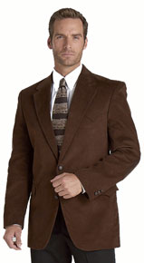 Circle S Corduroy Chestnut Western Sport Coat