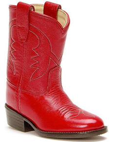 Jama Old West Red Cowboy Boots - Infant's