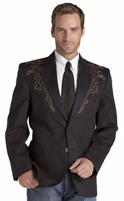 Circle S Black  Galveston Western Sport Coat