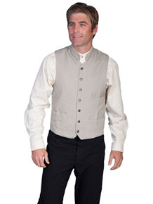 Scully Cotton Canvas Vest – Sand