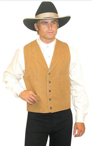"Scully Canvas ""Duckins"" Vest- Brown"