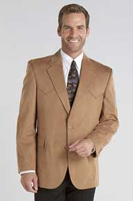 Circle S Houston Camel Microsuede Western Sport Coat