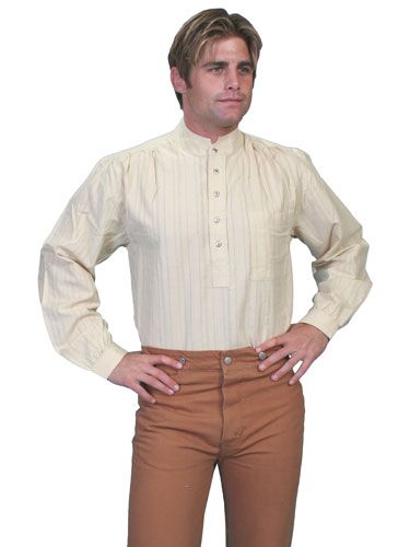 020f43a24b5 Scully Banded Collar Shirt - Natural - Men's Old West Shirts