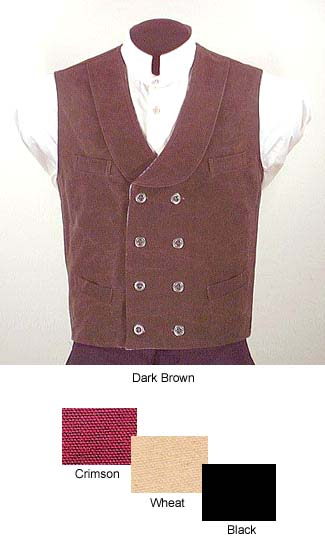 Frontier Classics Double-Breasted Canvas Vest - Men's Old West Clothing | Spur Western Wear