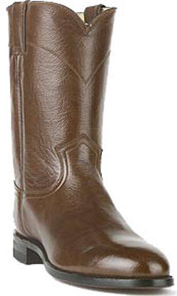 Justin Classics Brush Off Roper Boots - Brown