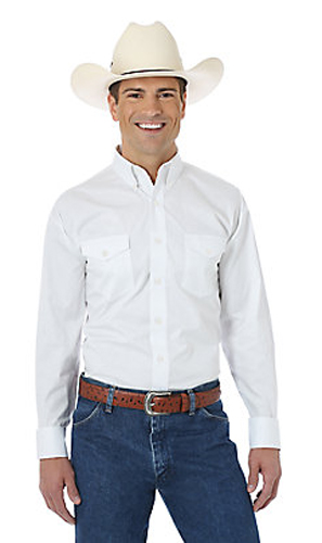 cbdc0c7a Wrangler Painted Desert Long Sleeve Western Shirt - White - Men's Western  Shirts | Spur Western Wear
