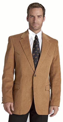 S Corduroy Western Sport Coat - Camel - Men's Western Suit Coats ...
