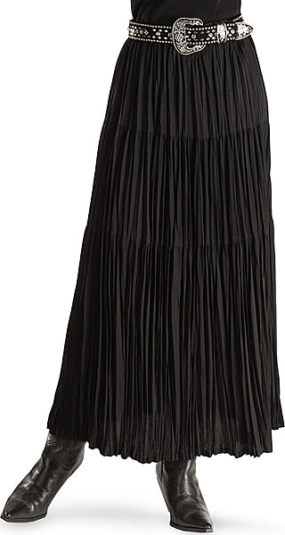 1e5f678cd51 Cattlelac Broomstick Skirt - Black - Ladies  Western Skirts and Dresses