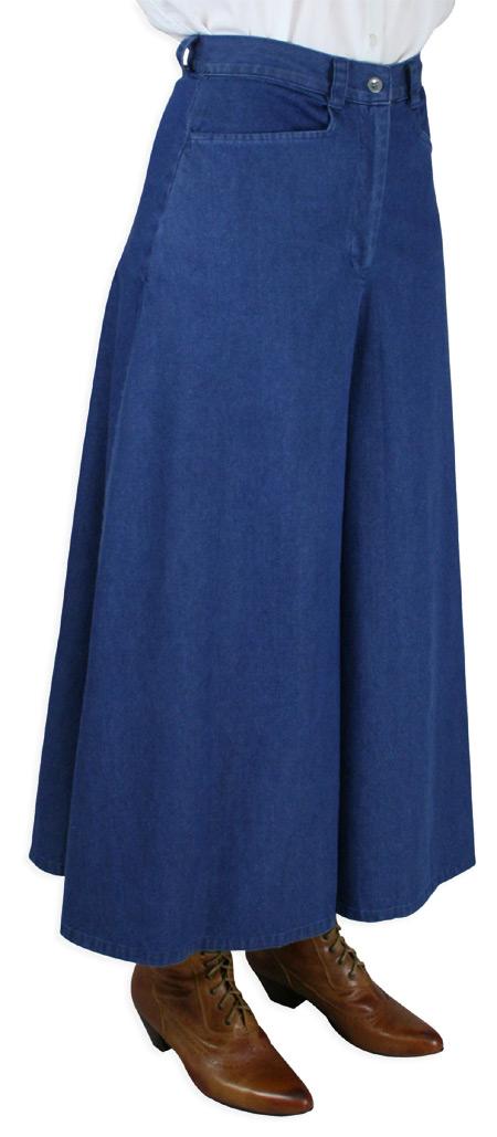 Denim Split Skirt 43