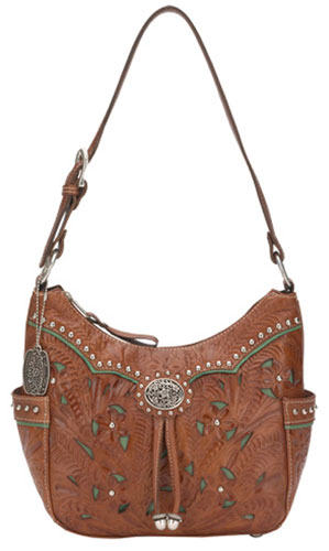 American West Lady Lace Zip Top Hobo Hand Bag Las Western Handbags And Wallets Spur