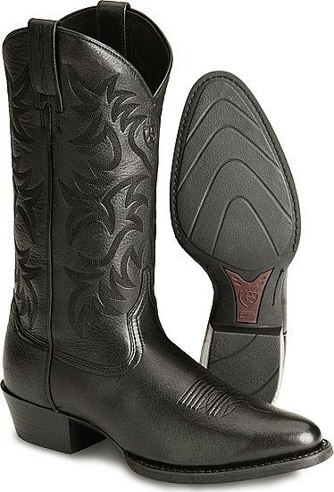 59b72c68e6 Ariat® Heritage Western R Toe Western Boot - Black Deertan