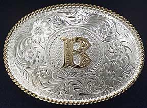 f4553788f Montana Silversmiths Initial B Western Belt Buckle - Western Belt Buckles