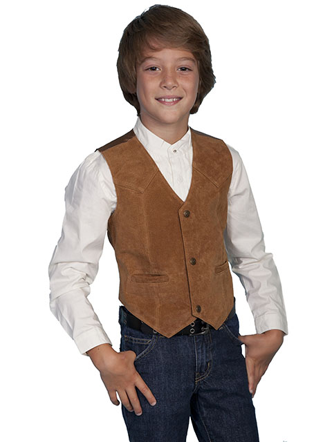 1a757e11 Scully Boar Suede Western Vest - Tan - Boys' Old West Vests And Jackets |  Spur Western Wear