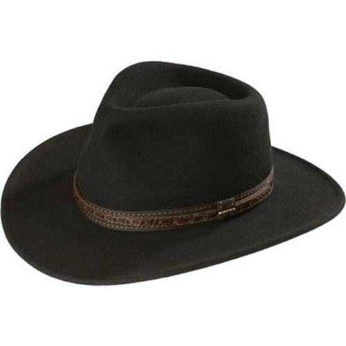 9e82e32c Scala Crushable Wool Outback Hat - Black - Cowboy Hats | Spur Western Wear