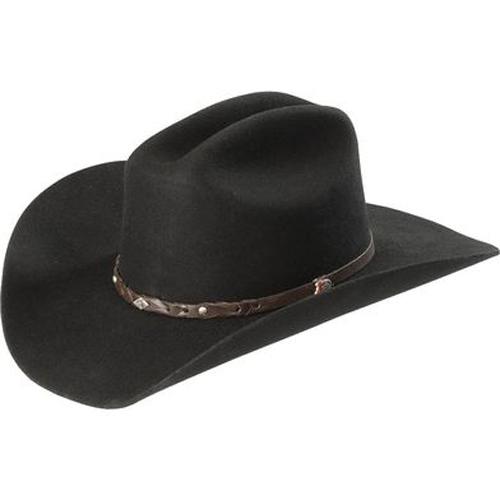 Justin Lone Star 2x Cowboy Hat Black Cowboy Hats