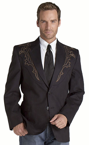 S Galveston Western Sport Coat - Black - Men's Western Suit Coats ...