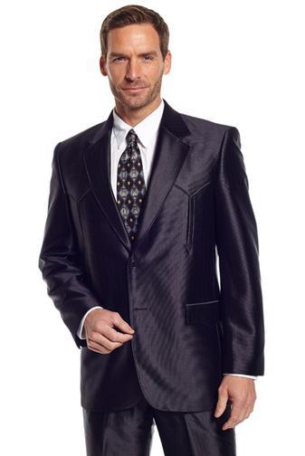 S Tulsa Western Suit Coat - Black - Big & Tall - Men's Western ...