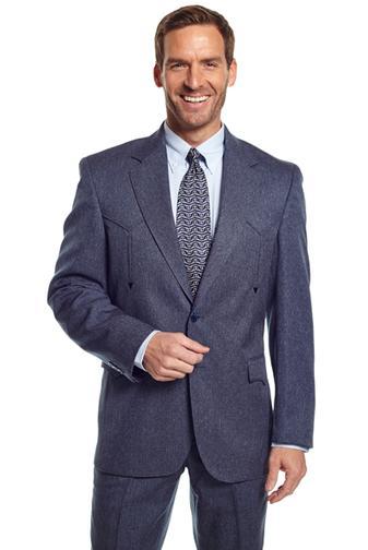 Circle S Vegas Western Suit Coat Heather Navy Men S