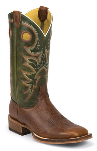 Justin Bent Rail Kerrville Copper Western Boot Brown