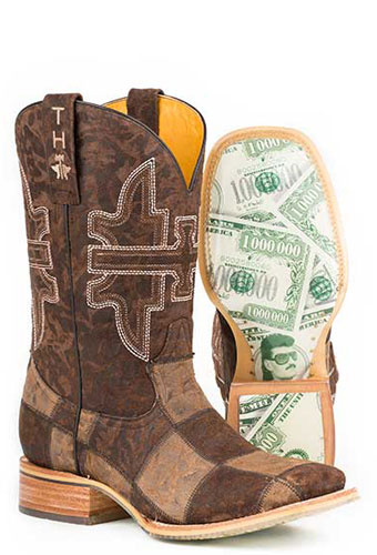 Tin Haul Million Dollar Check Western Boot - Brown - Men's Western Boots | Spur Western Wear