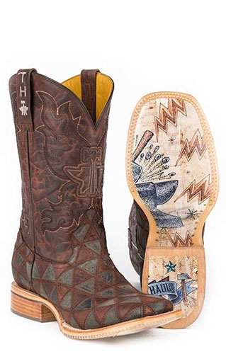 Tin Haul Triangles Western Boot - Brown - Men's Western Boots | Spur Western Wear