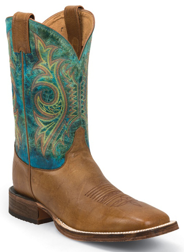Justin Bent Rail Caddo Western Boot - Tan - Men's Western Boots | Spur Western Wear