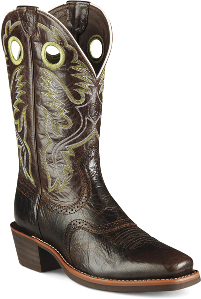 Ariat 174 Heritage Roughstock Western Boot Thunder Brown