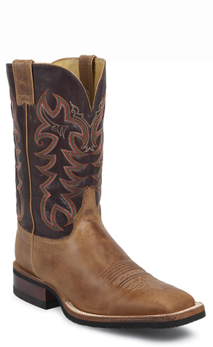 Justin Calimero Western Boot Tan Men S Western Boots