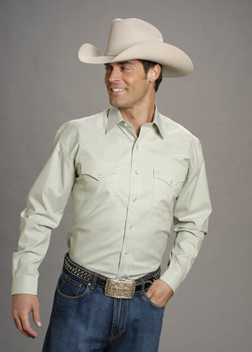 Stetson Pinpoint Oxford Long Sleeve Snap Front Western Shirt - Green -  Men s Western Shirts  2aefa4df3d0