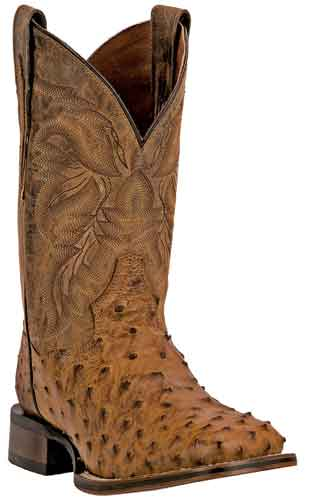 Dan Post Alamosa Full Quill Ostrich Western Boot - Saddle Tan - Men's Western Boots | Spur Western Wear