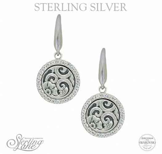 Montana Silversmiths Sterling Lane Daisy Vignette Earrings Western Jewelry Spur Wear