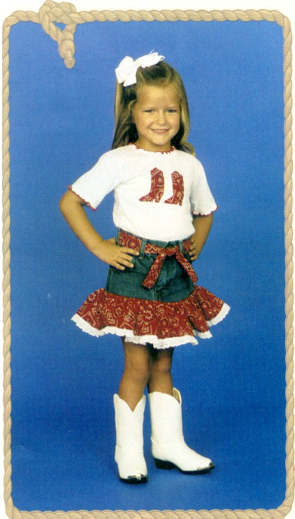 Kiddie Korral 2 Piece Bandana Outfit Red Toddlers