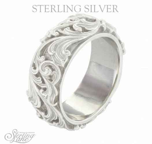 Montana Silversmiths Sterling Lane Forever And Ever Wide Band Western Jewelry Spur Wear