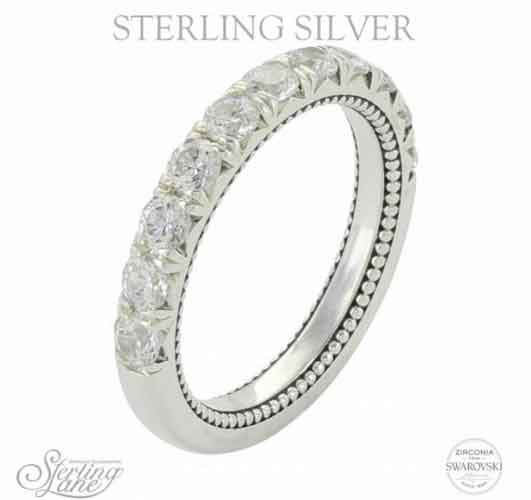 Montana Silversmiths Sterling Lane Eternally Yours Brilliant Anniversary Band Western Jewelry Spur Wear
