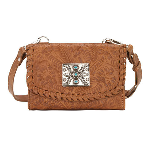 American West Texas Two Step Crossbody Bag Wallet Golden Tan Las Western Handbags And Wallets